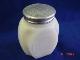 Vintage Cara Nome Cream Langlois Art Deco Milk Glass