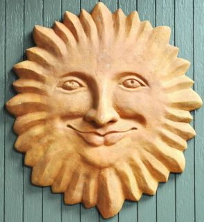 Garden Art Large Sun Face Terracotta Bali Arts Home Decoration