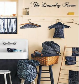 The Laundry Room Style 1 lettering decor removable Custom Vinyl Wall