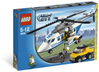 3658 Police Helicopter Persuit Lego New SEALED Legos City Town
