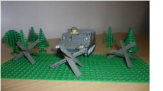Lego WW2 German Army Anti Tank Barriers with Instructions