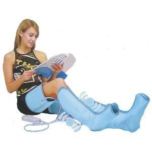 Air O Sage Foot Ankle Calf Leg Thigh Compression Massager Boot Sock