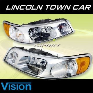 1998 2002 Lincoln Town Car Vision Sport Style Replacement Headlights