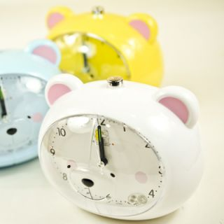 New Arrival Cute Bear Shape Light Plastic Alarm Clock 1pc