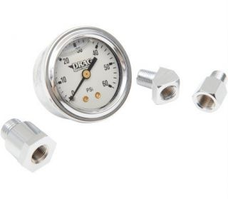 Oil Pressure Gauge Kit Liquid Filled White Dial 84 99 Big Twin