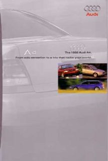 1998 Audi A4 Sales Brochure Literature Book Piece