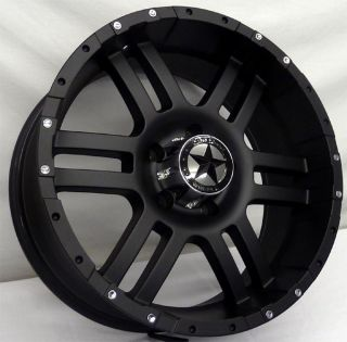 Lonestar Flat Black Wheels 20x9 Dodge Trucks 1500 Ram Matte Black 20