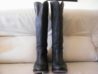 Pre Owned Dolce Vita Lujan Black Leather Boots Sz 9 5