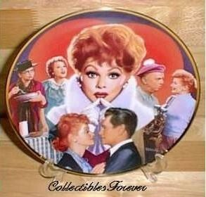 Lucille Ball Commemorative Plate Retired