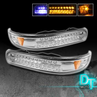 99 02 Silverado 00 06 Tahoe Suburban Full LED Bumper Signal Lights