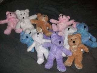 WHOLESALE LOT Plush Teddy Bears Approx 10 in CUTE Fuzzy Teddy Bears