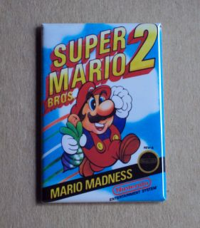Super Mario Bros 2 Fridge Magnet Video Game Box 80s Arcade Galaxy