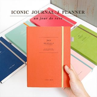 Iconic Journal J for Year 2013 Diary Note Planner Scheduler Personal