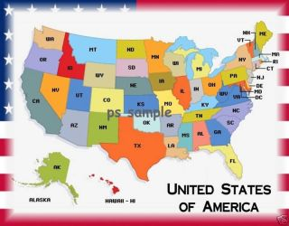 United States Map Travel Souvenir Fridge Magnet