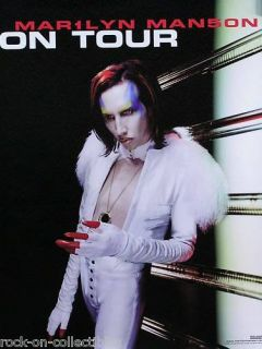 Marilyn Manson 98 Mechanical Animals Tour Promo Poster