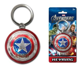 Marvel Studios Captain America Shield Pewter Keychain