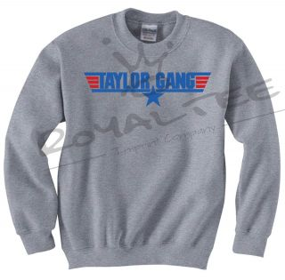 Taylor Gang Wiz Khalifa Crewneck Sweater Top 420 Rap Hip Hop Dubstep