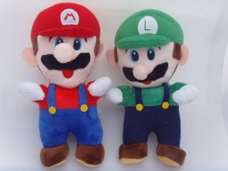 Super Mario Plush 9  Mario and Luigi Soft Stuffed Plush Toys 2pcs