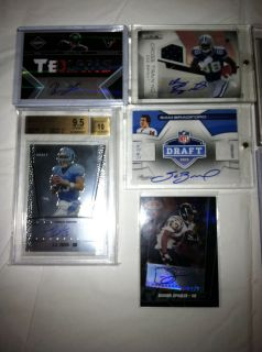 Auto Jersey RC Lot YATES MCCOY BRADFORD TATE BRYANT MANNINGHAM SPROLES