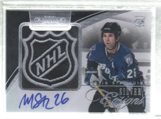 2010 11 DOMINION MARTIN ST. LOUIS AUTO NHL SHIELD JERSEY PATCH 1/1