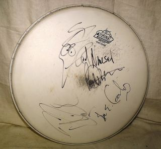 Cheap Trick Autographed Signed Drumhead by All 4 Members