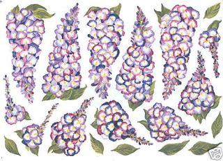 Wisteria Flowers Purple Wall Decal Art Transfers