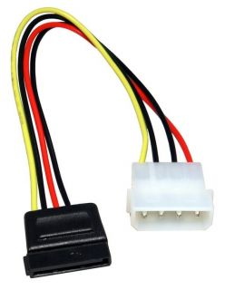 Adapter Cable 4 Pin Molex to 15 Pin ATX for Desktop Computer PC