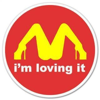 Loving It McDonalds Funny Car Bumper Sticker Window Decal 4 x 4