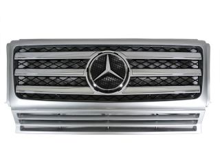 USA MERCEDES BENZ W463 G WAGON FACELIFT AMG STYLE SILVER CHROME GRILLE