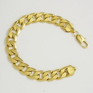 Gold Filled Mens Bracelet 12mm 9Chain Watch Link GF Jewelry