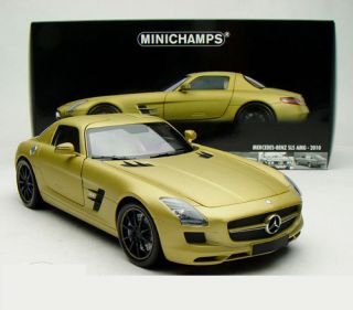 18 Minichamps Mercedes Benz SLS AMG 6 3 2010 Matt Gold 100039024