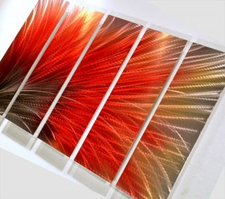 new red hot Metal modern art painting abstract wall decor office