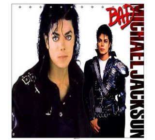 New MJ Michael Jackson Bad Shower Curtain Bathroom Gift
