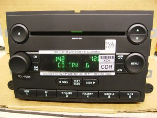 FORD FUSION MERCURY MILAN CD PLAYER RADIO  STEREO 2006 2007 7E5T