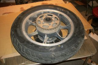 Kawasaki KZ1000 KZ 1000 KZ1000B4 1000LTD Rear Back Wheel Rim Tire 130