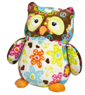 Owl Lily Print Pizzazz Plush Stuffed Animal by Mary Meyer New