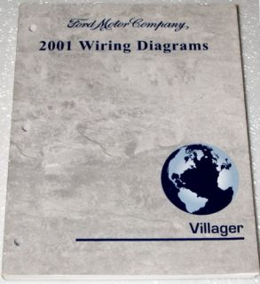 2001 Mercury Villager Mini Van Factory Electrical Wiring Diagrams Shop