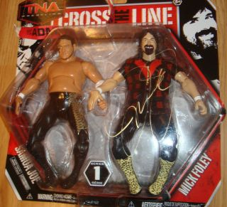 MICK FOLEY signed autographed TNA CROSS THE LINE SAMOA JOE SERIES 1