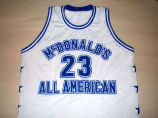 Michael Jordan McDonald All American Jersey McDonalds White New Any