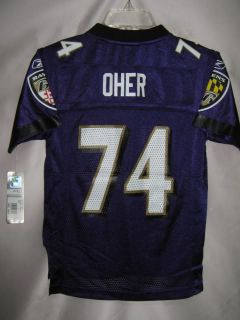 Ravens Replica NFL Youth Jersey Michael Oher Purple S