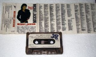 Michael Jackson Bad Peru Cassette Tape