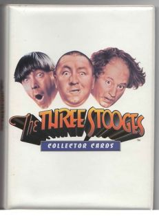 Three Stooges 1997 Licensed Mini Trading Card Binder