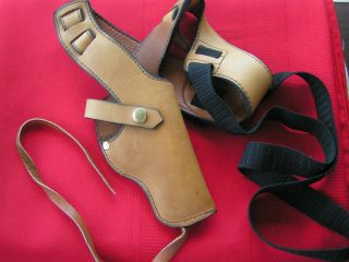 Leather Shoulder Holster 38 Special Color Tan 2 Tone