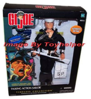 Gi Joe Action Sailor Talking Doll Military Collection