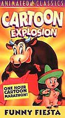Cartoon Explosion   Funny Fiesta VHS, 2000, Animated Classics