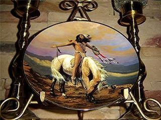 Hermon Adams SPIRIT OF THE SKIES American Indian HORSE Franklin Mint