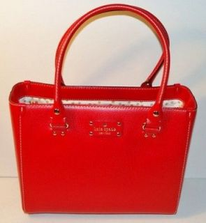 New Kate Spade Wellesley Quinn Red Leather Tote / Shoulder / Carryall