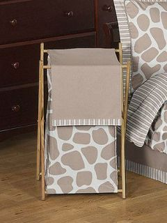 KID BABY CLOTHES LAUNDRY HAMPER FOR ANIMAL PRINT GIRAFFE BEDDING SET