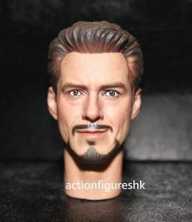 Custom 1/6 Tony Stark Robert Downey Jr. head The Avengers iron man