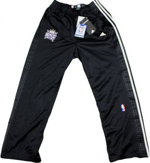 NBA Sacramento Kings On Court Warm Up Snap Off Pants  Black